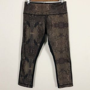 Lululemon Black & Brown Cropped legging